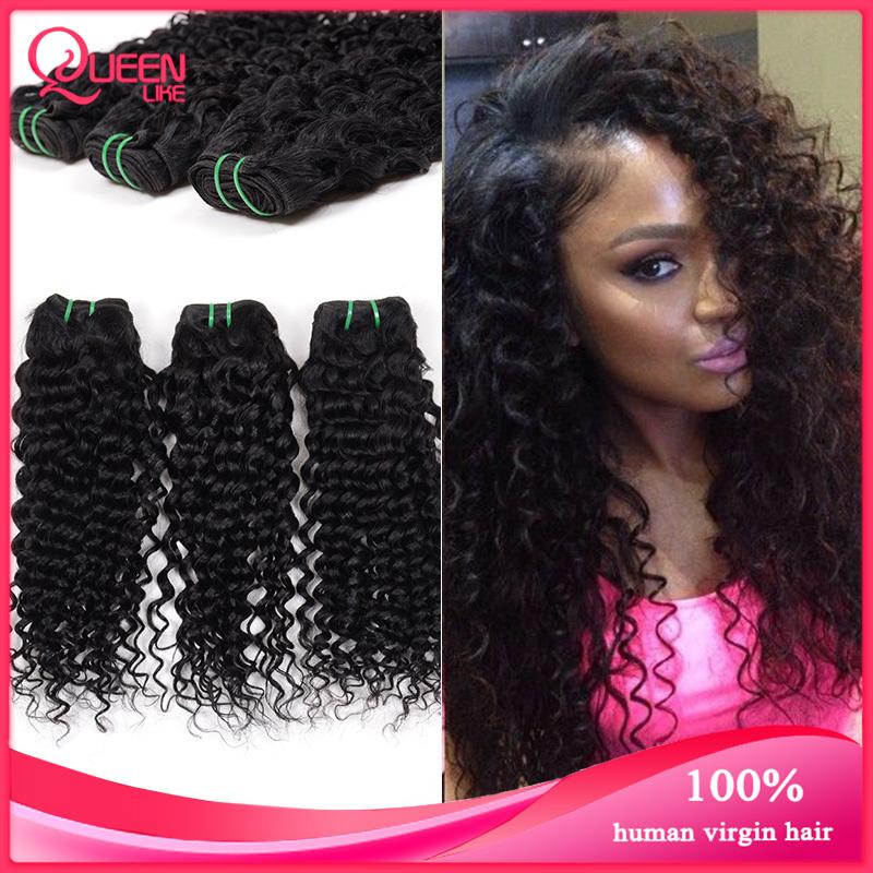 Ali Queen Hair Products Malaysian Deep Wave,3pcs Malaysian Curly Hair Bundle,Unprocessed Malaysian Virgin Hair Weave Bundles(China (Mainland))