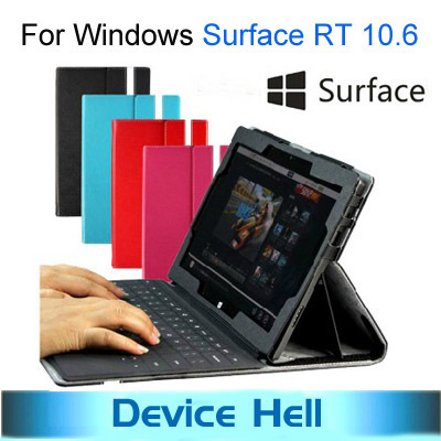 Hot sale Luxury Stand Leather Case Cover for Microsoft Windows Surface RT 10.6 Tablet +Free Screen Protector Free shipping