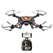 DBPOWER FPV WiFi Drone RC Helicopter G-Sensor Control Hawkeye-II Quadcopter One Key Taking-off Landing and 720P HD Drone Camera(China (Mainland))