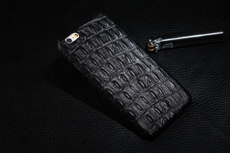 Best Sellers!!Top Luxury Genuine Leather Crocodile back lines Protective shell Case Apple IPhone 6plus 5.5 inch - Magic family accessories shop store