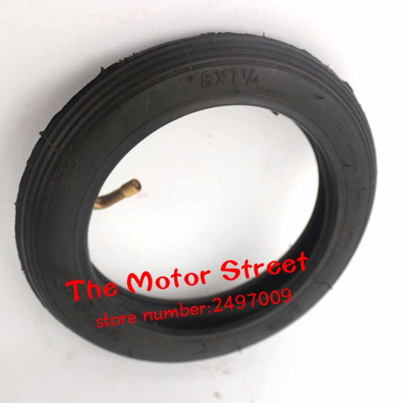 8x1 1/4 Inch High Quality Inner tube motorcycle Tire for Scooter A-Folding Bike Electric / Gas Scooter qingda Tyre(China (Mainland))
