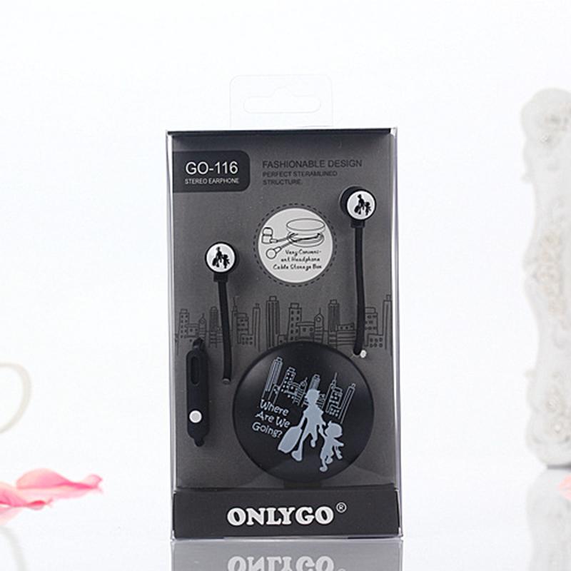 Originali Amaretti di in-ear Auricolari Stereo Bass Trasduttore Auricolare Sveglio con Microfono cuffie per Computer DJ