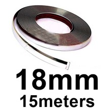 15M Silver Car Chrome Styling Decoration Moulding Trim Strip Tape Auto DIY Protective Sticker 6mm 8mm 10mm 12mm 15mm 20mm 30mm(China (Mainland))