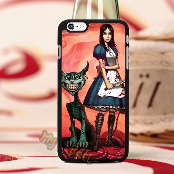 video games alice american mcgee hard skin mobile phone cover housing for iphone 4s 5s 5c 6 6 plus cases with free gifts(China (Mainland))