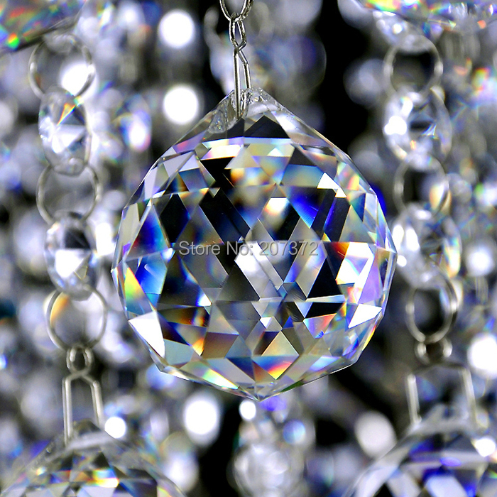 Top Quality, Clear Crystal Chandelier Lamp Ball, Window Suncatchers Hanging Christmas Ornament, Free Shipping(China (Mainland))