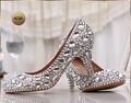 Fashion women s crystal rhinestone shoes platform shoes bride wedding shoes bridesmaid high heels pumps