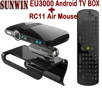 EU3000 Android TV Box Camera 5.0MP MIC HDMI 1G RAM 8G ROM Allwinner A20 Mini PC AV Out  TV Dongle  + RC11 Air Mouse