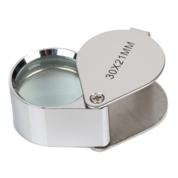 Stainless steel Triplet Jewelers Eye Loupe Magnifier Magnifying Glass Jewelry Diamond Appraise Microscope Hot Selling(China (Mainland))