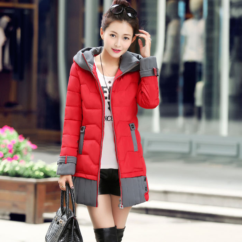 Wadded Jacket 2016 Hot Sale Brand Winter Jacket Women Parkas Thickening Fashion Korean Style Slim Padded Long Outwear Coat HJ98(China (Mainland))