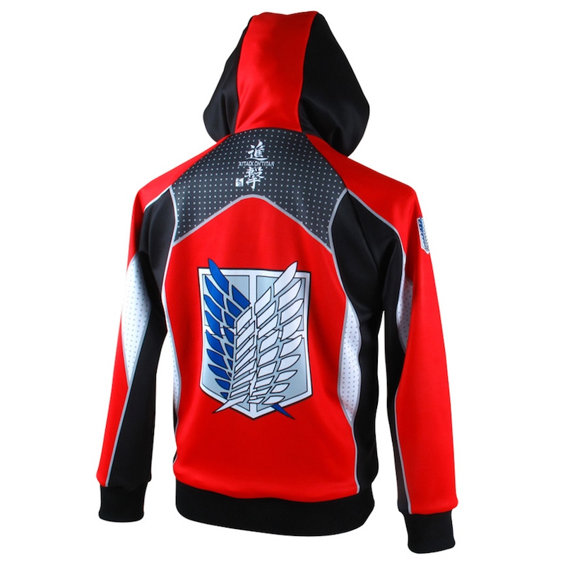 ATTACK ON TITAN COSPLAY COSTUME SHINGEKI NO KYOJIN HOODIES ANIME COAT NARUTO JACKET MEN ZIPPER HOODIE SWEATSHIRTS
