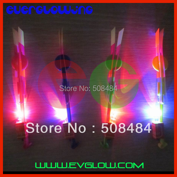 free shipping 2400pcs/lot red/blue flashing led arrow led helicopter arrow amazing flying arrow helicopter for christmas(China (Mainland))