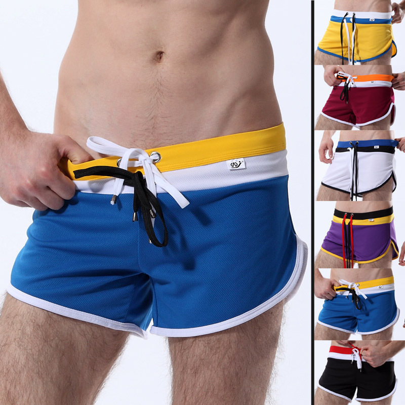 Men's summer Mesh Athletic shorts breathable lounge boxers for man GYM work out underpants 6 colors(China (Mainland))