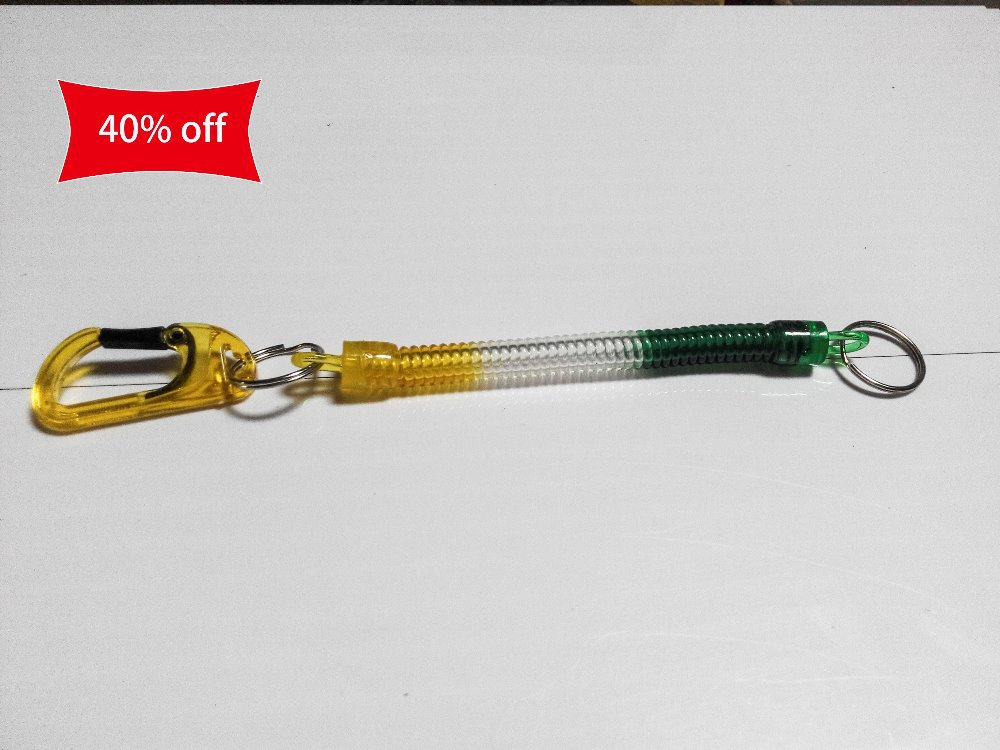 Spring rope 12cm long The plastic hook mobile phone chain key chain Safety and security(China (Mainland))
