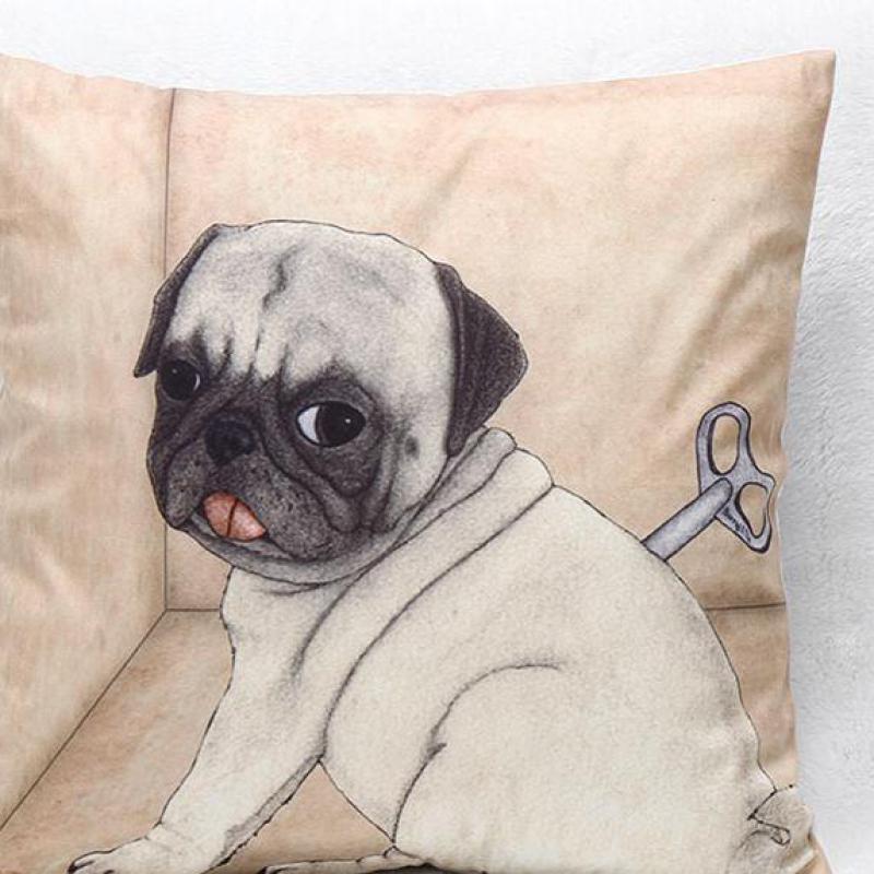 Hot Trade Wholesale Dog Short Plush Material Cushion Pillowcase Furnishing Sofa To Map Custom Pillows Wholesale(China (Mainland))