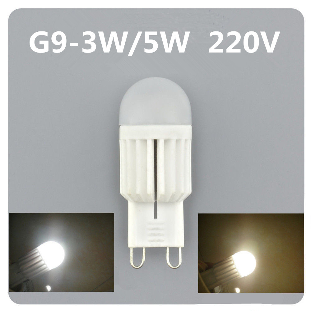 5x Mini Dimmable G9 LED Lamps 220V-240V 3W 5W Ceramic Crystal 300LM SMD Corn Bulb Droplight Chandelier COB Spot Light Table lamp - New Ray store