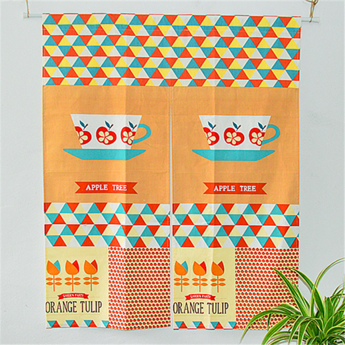 Free shipping 2015 New Nordic Coffee time Split off Cloth Door curtain Coffee screens Fluid Systems(China (Mainland))