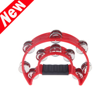 Professional Musical Instrument Hand Held Tambourine Bell Double for KTV Party Kids Games(China (Mainland))