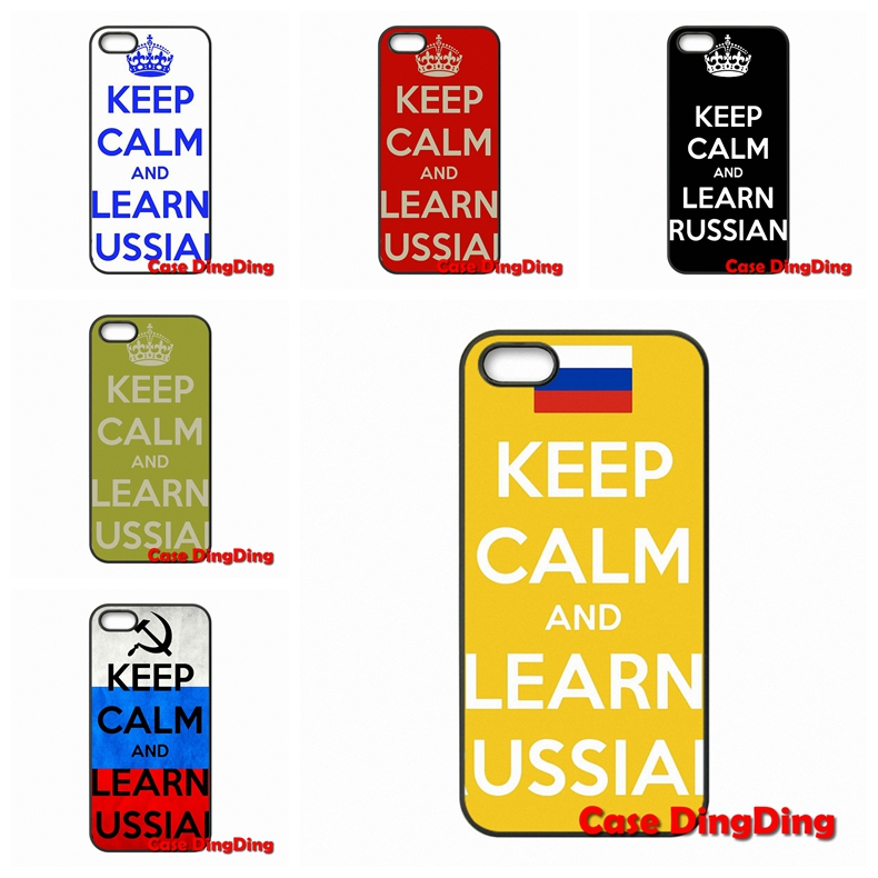 keep calm and learn russian For iPhone 4 4S 5 5C SE 6 6S Plus Apple iPod Touch 4 5 6 Moto X1 Couple Protective shell(China (Mainland))