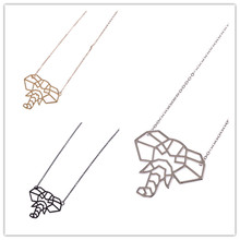 Buy Accessories wholesale fashion new geometry stereo machine ms elephant short necklace collocation necklace fashion jewelry jewelry wholesale) for $1.00 in AliExpress store