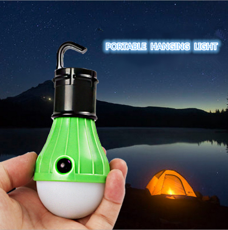 Christmas Party Festival Portable Hanging Hook Light Soft White Light Decorative LED Camping Tent Bulb 3x LED Lamp Torch(China (Mainland))