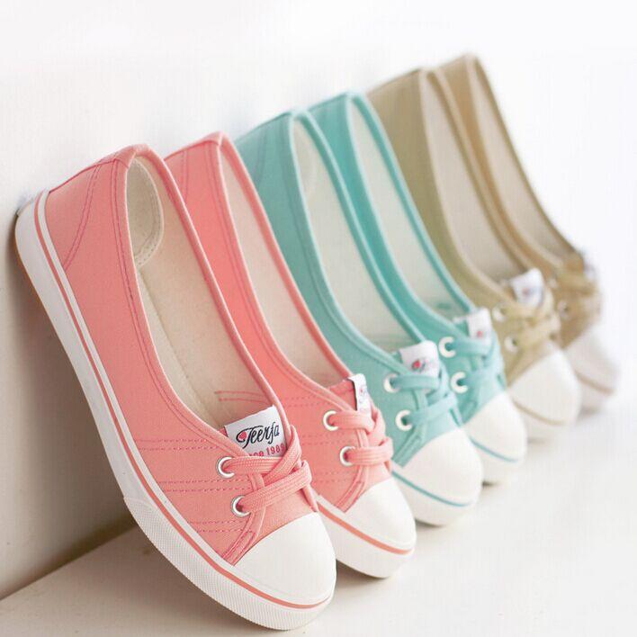 woman shoes sneakers single colour