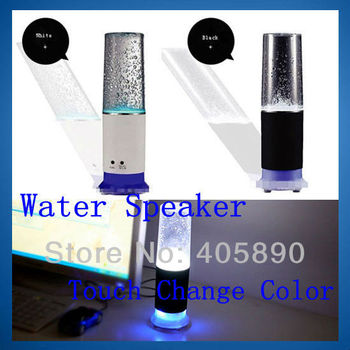 LED Dancing Water Speaker Colorful USB Touch Sensor LED Table Lamp with Mini Speaker