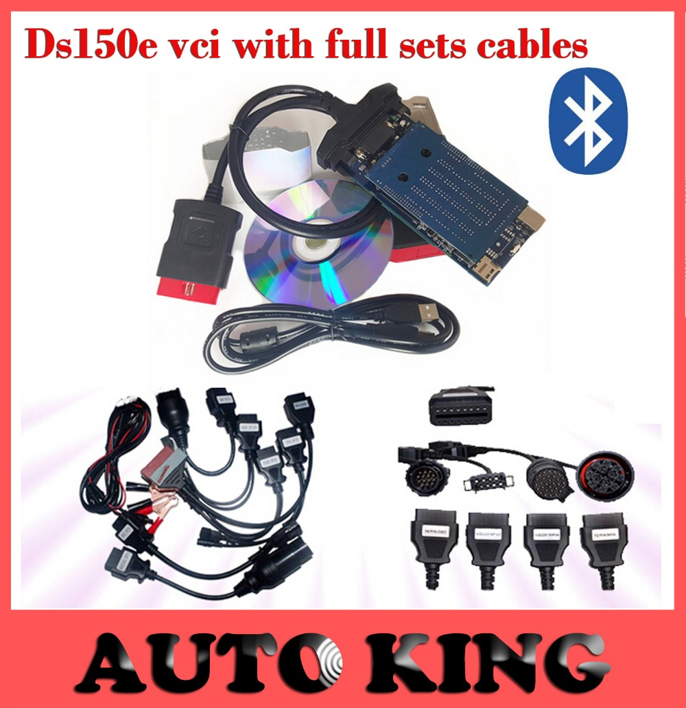 Panic buy !  ds150e new vci with Bluetooth function best tcs cdp pro with full 8 car cables + 8 truck cables --DHL FREE SHIPPING<br><br>Aliexpress