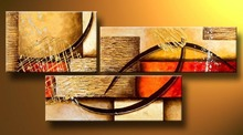 multi piece 3 panel wall art Abstract Paintings Modern Oil Painting on Canvas Home Decoration living room pictures handpainted(China (Mainland))
