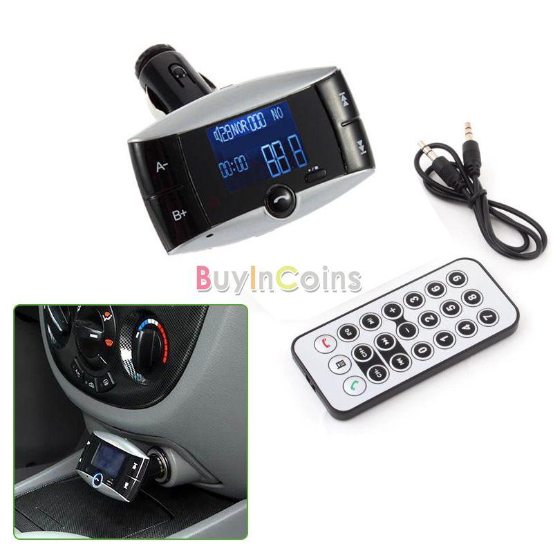 Car Kit MP3 Bluetooth Player FM Transmitter SD/MMC/USB US AS #2418(China (Mainland))