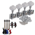 4pcs Chrome Bass Guitar Machine Head Knobs Tuner Open Type Guitar String Turning Pegs Keys Buttons