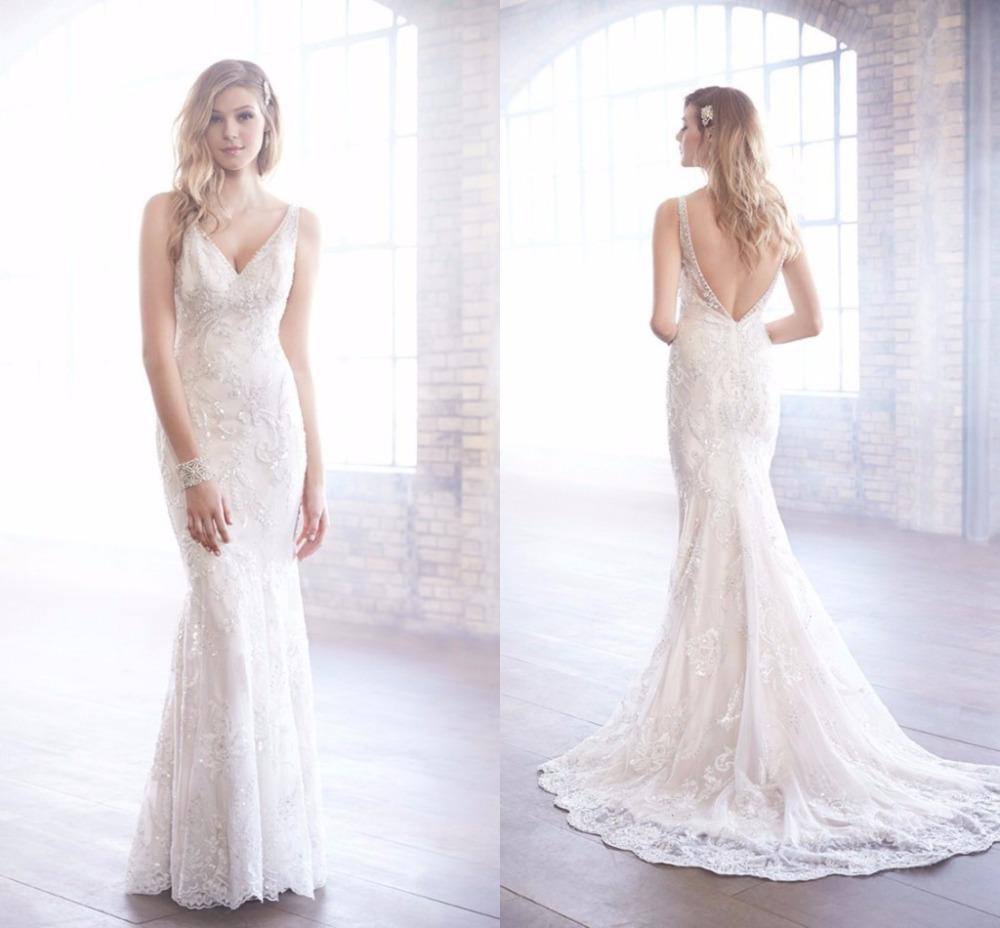 2015 sexy boh me islamique robe de mari e custom made blanc backless longue robe mariage de luxe. Black Bedroom Furniture Sets. Home Design Ideas
