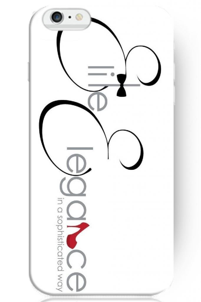 Cute Design Hard Protective Cover 5.5 Inch for apple for iphone 6 Plus Case Sayings -- Elegance in a sophisticated way(China (Mainland))