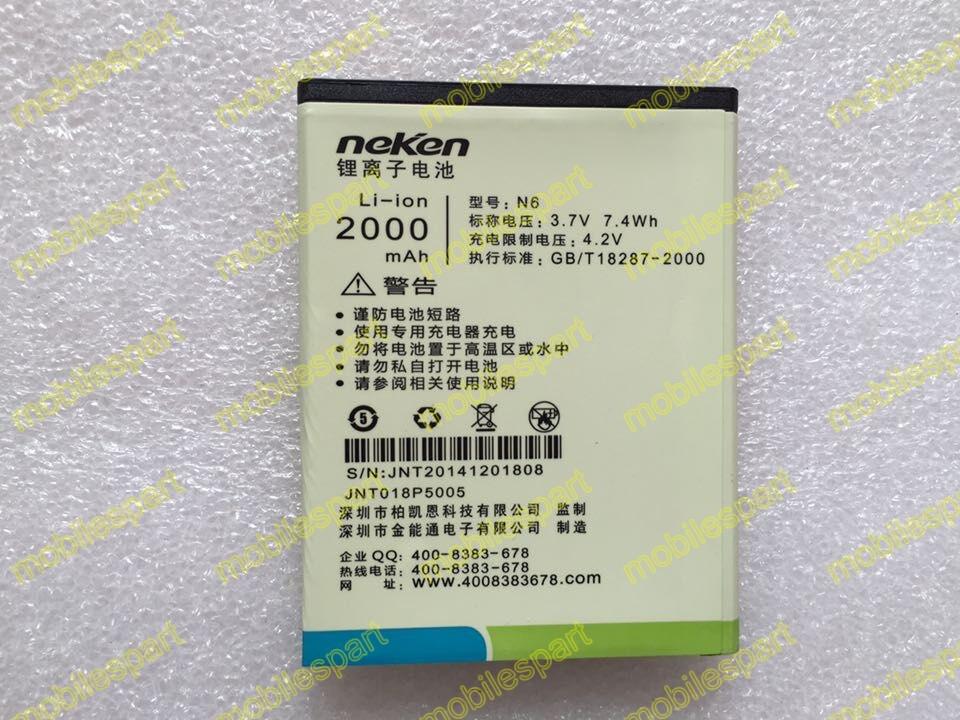 Neken N6 Battery 100 Original 2000mAh Backup Battery replacment for Neken N6 Neken N6 Pro Smartphone
