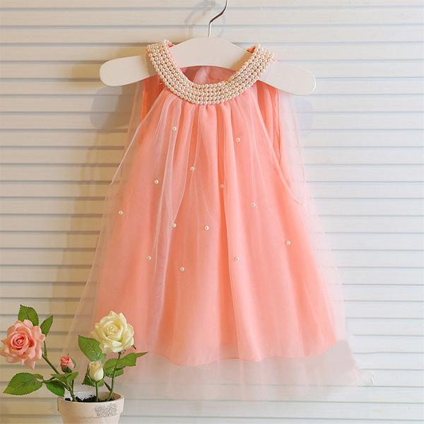 Grils Vest Dresses Summer 2015 Chiffon Princess Brand Elegant Toddler Baby Clothes Party Dress Sleeveless Clothing G114585(China (Mainland))