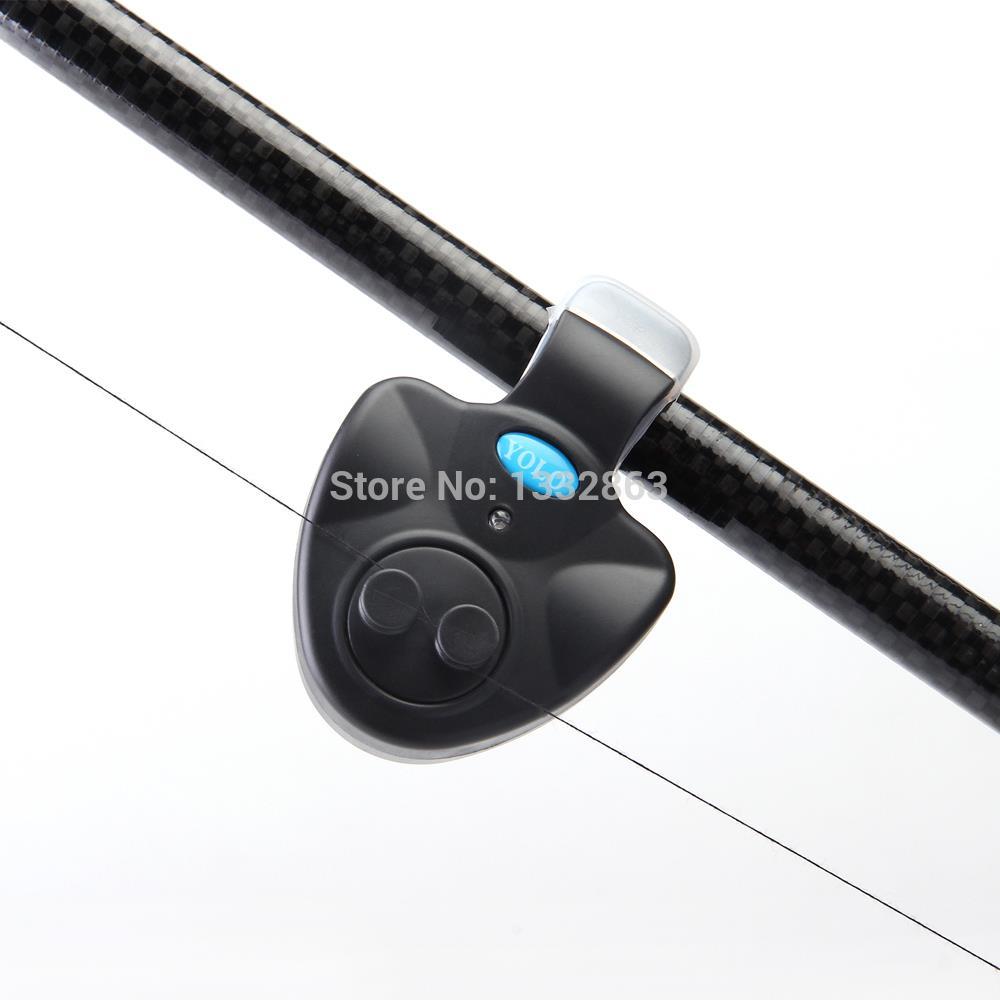 2Pcs/Lot Outdoor Fishing Alarm Electronic Fish Bite Alarm Finder Sound Alert Running LED Clip On Fishing Rod Fly Fishing Tackle(China (Mainland))