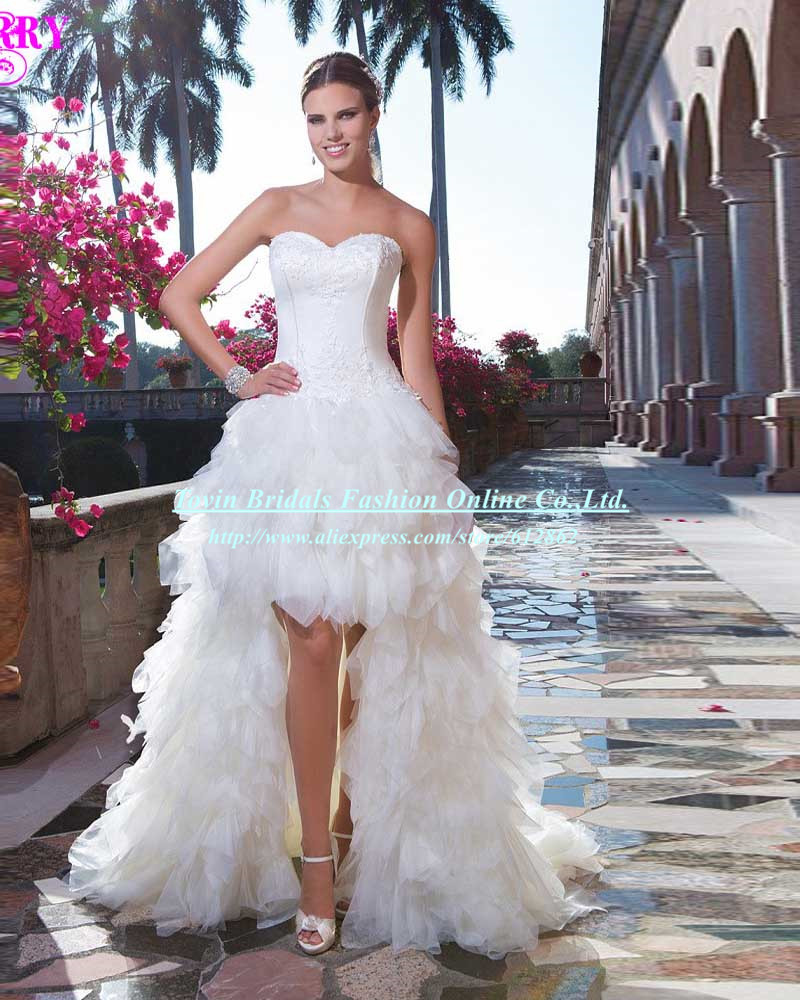 Vestido de noiva curto sexis high low wedding dresses for Wedding dress high low