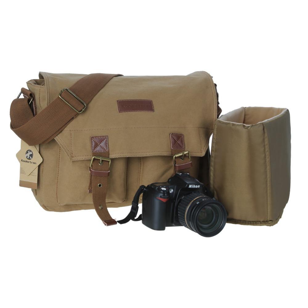 Vintage Canvas DSLR Camera Photo Bag Case Shoulder Messenger Bag to Camera DSLR for Nikon Sony with Insert Protection(China (Mainland))