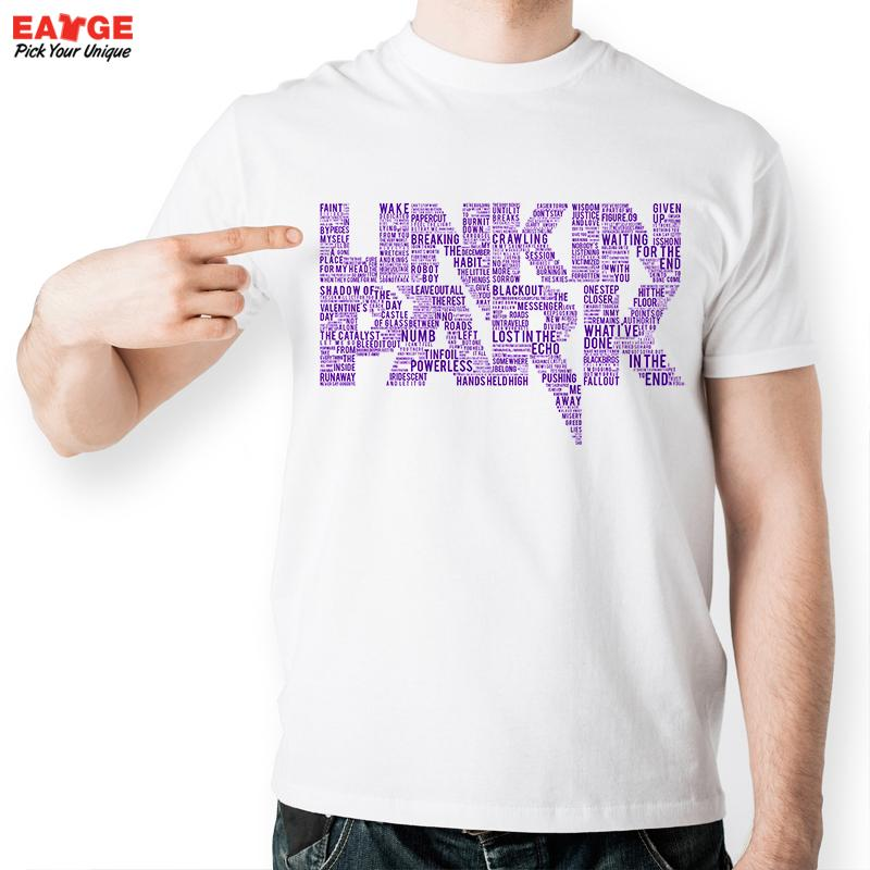 [MASCUBE]2016 New Casual White Letter Splicing Tshirt Violet Linkin Park T-shirt Men Printed T Shirt Unisex Fashion(China (Mainland))