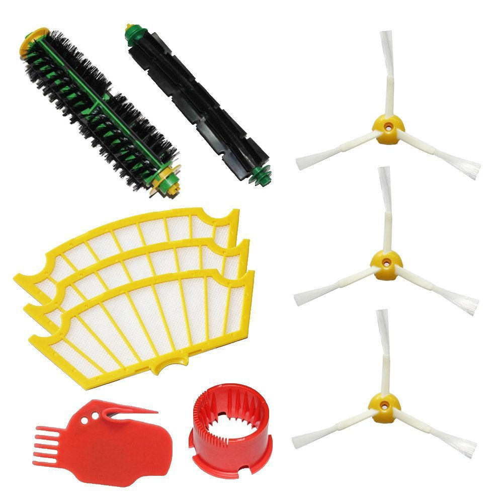 side brush + filter + clean tool kit for Irobot Roomba 500 500 510 530 532 535 540 555 560 562 570 572 580 581 590 replacement(China (Mainland))