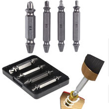 4pc Screw Extractor Drill Guide Set Removal Broken Screw Bolts Fastner Easy Out Wood Bolt Stud Remover Tool Kit 1# 2# 3# 4# New