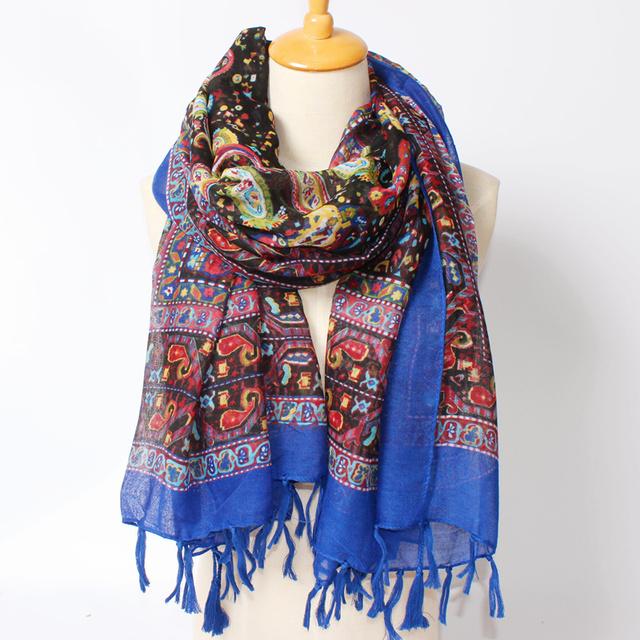 2016 новое поступление зима мода женщин высокое качество богемия национального ветра орехов отпечатано шарф осенью дизайнерские платки 180 см