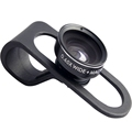 Universal Clip 0 65X 2 in 1 Fish Eye Wide Angle Macro Fisheye Mobile Phone Lens