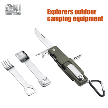 Multi-function portable outdoor camping tool picnic knife free shipping