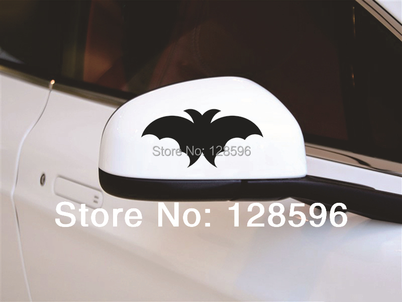2pcs Bats Sports Car Rearview Mirror Stickers Car Decorations Reflective Decal Hot Cool(China (Mainland))