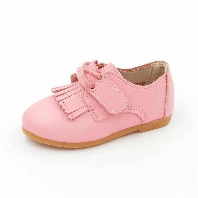 2016 весной новые девушки принцесса обувь девушки плоские кожаные ботинки мода малыш ...