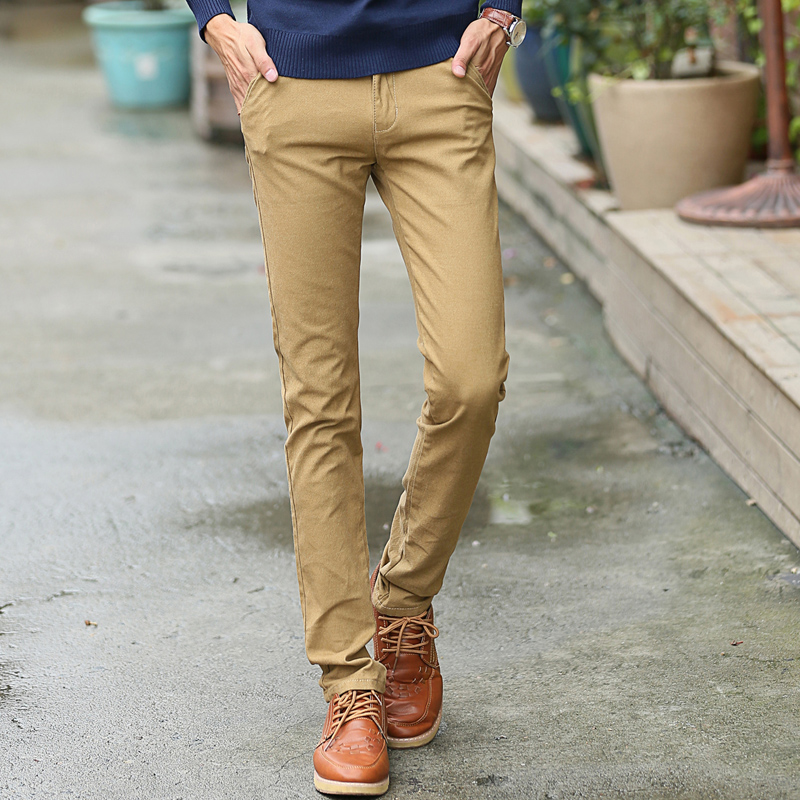 Men Skinny Khaki Pants Promotion-Shop for Promotional Men Skinny ...