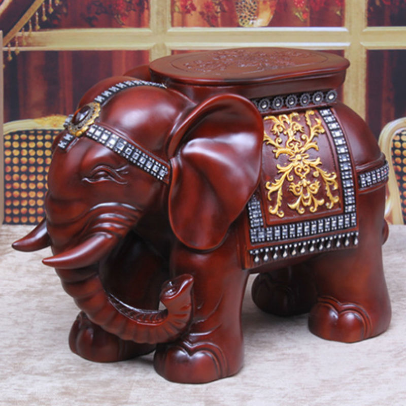 Ru domestic delivery elephant shape ottoman sofa stool footstool footrest home furniture christmas crafts desktop decoration(China (Mainland))