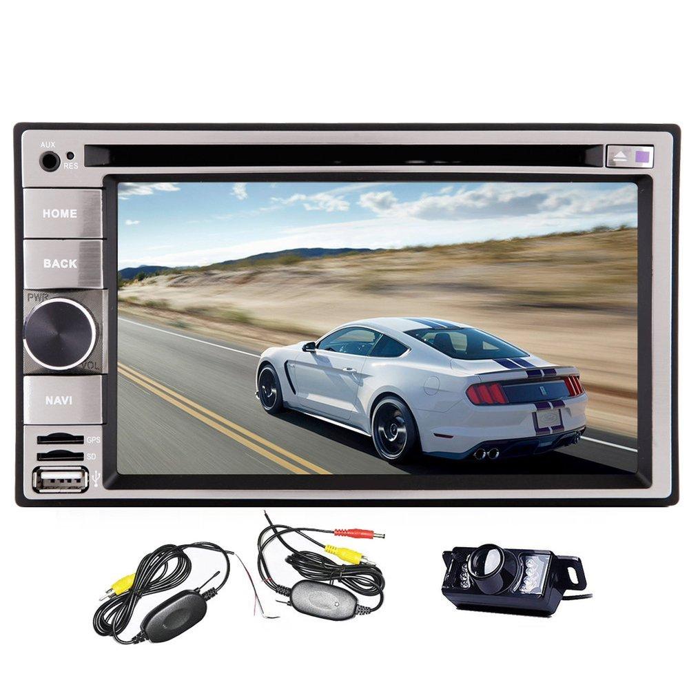 6.2 inch Car DVD Player GPS Navigation Stereo /DVD/iPhone iPod/AM FM Radio/Bluetooth Free 4GB Map Card+Wireless Back Camera(China (Mainland))