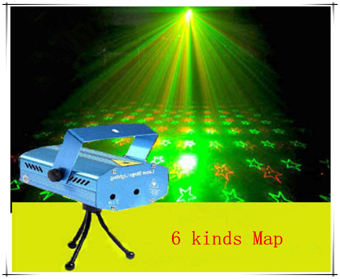 KTV Laser Light Sound Stage Laser LED Portable Projector DJ club music and disco lights stage lighting Christmas pie 6 kinds Map(China (Mainland))