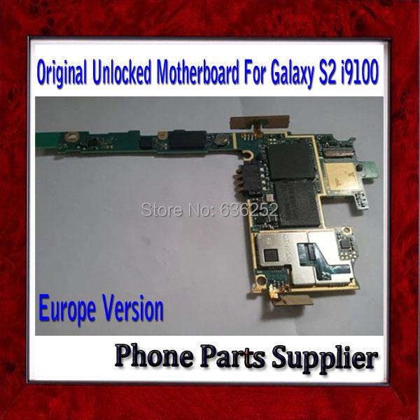 1Pcs Europe Version Unlocked For Samsung Galaxy S2 i9100 Motherboard,100% Original i9100 Motherboard with Camera Free Ship(China (Mainland))
